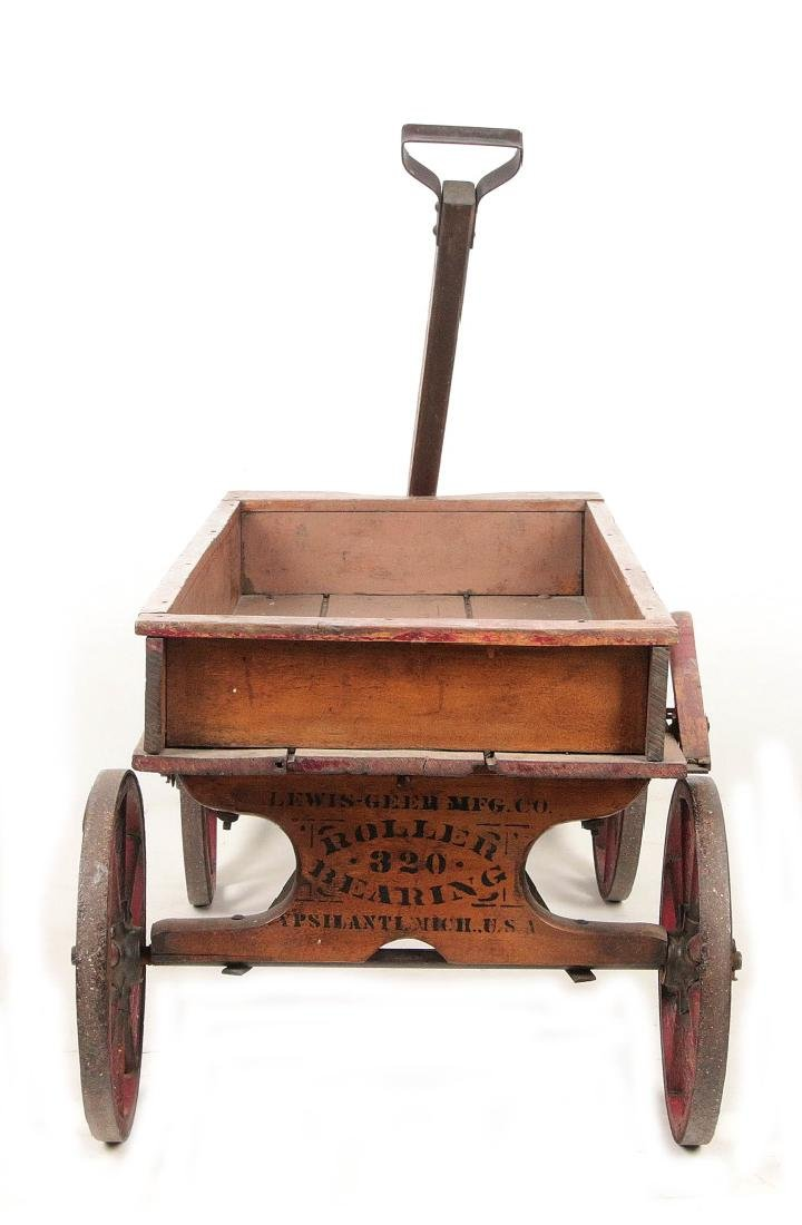 A FINE 'CHIEF SCOUT' WOODEN BOY'S WAGON CIRCA 1900 - 5