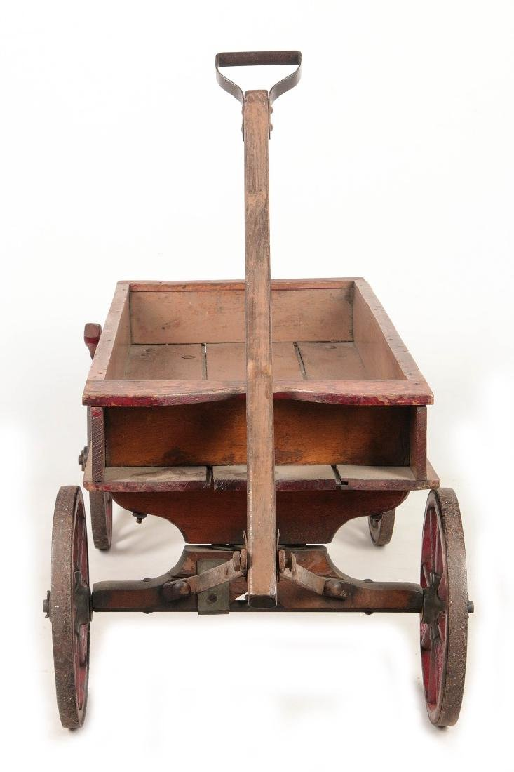 A FINE 'CHIEF SCOUT' WOODEN BOY'S WAGON CIRCA 1900 - 9