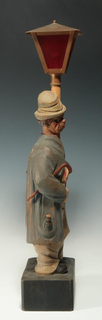 A KARL GRIESBAUM CARVED WOOD WHISTLER AUTOMATON - 9