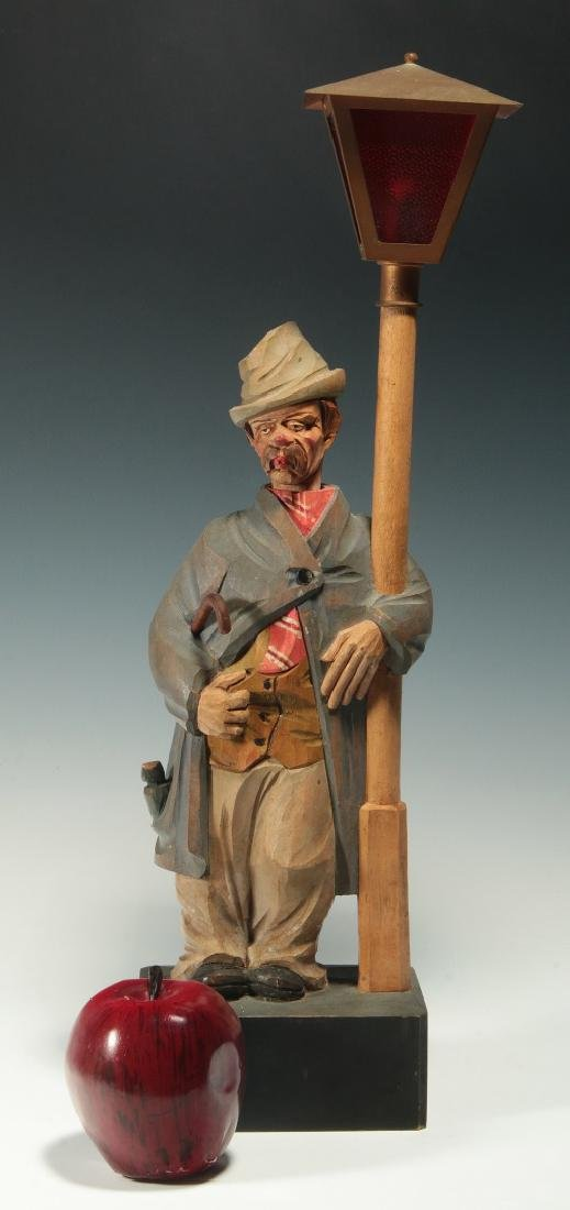 A KARL GRIESBAUM CARVED WOOD WHISTLER AUTOMATON - 2