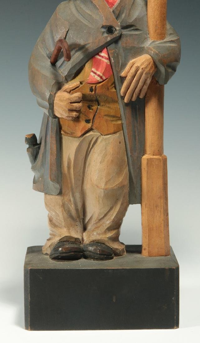 A KARL GRIESBAUM CARVED WOOD WHISTLER AUTOMATON - 3