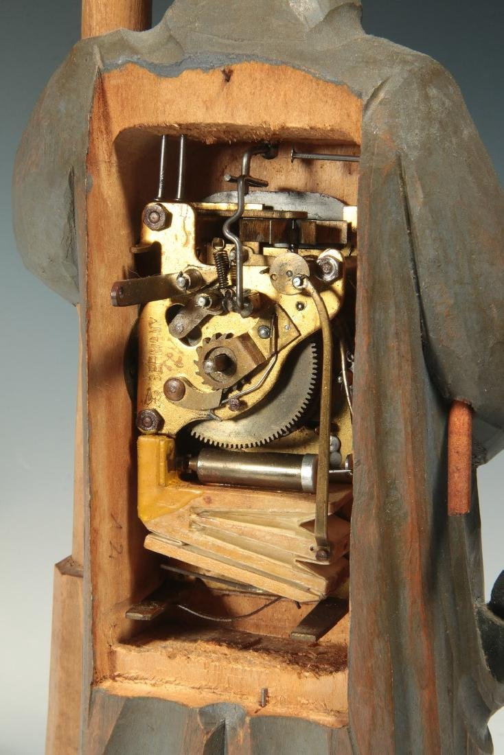 A KARL GRIESBAUM CARVED WOOD WHISTLER AUTOMATON - 8