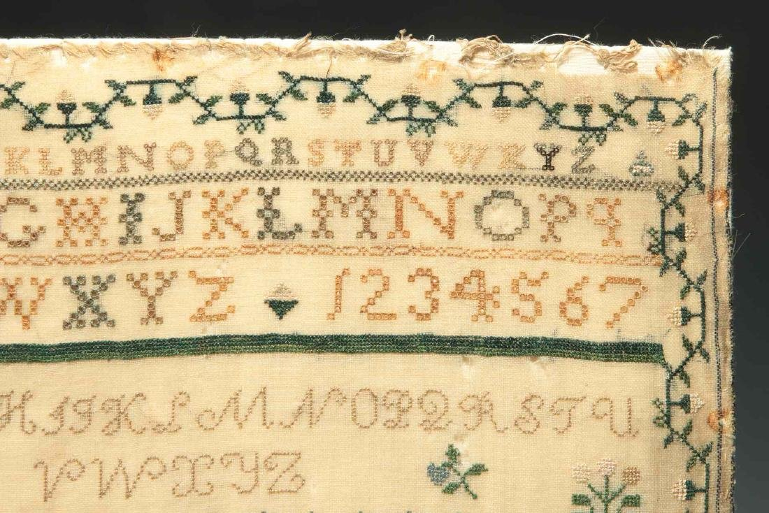 A SCHOOLGIRL CROSS STITCH SAMPLER DATED 1834 - 4
