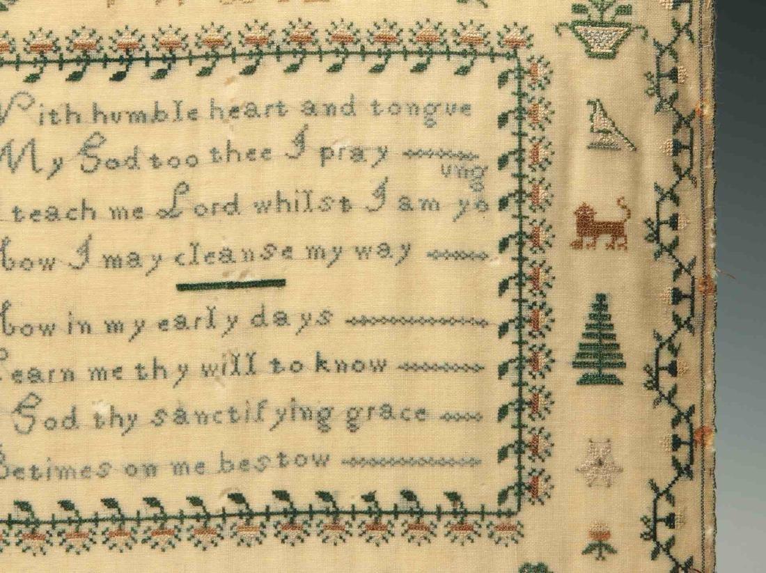 A SCHOOLGIRL CROSS STITCH SAMPLER DATED 1834 - 5