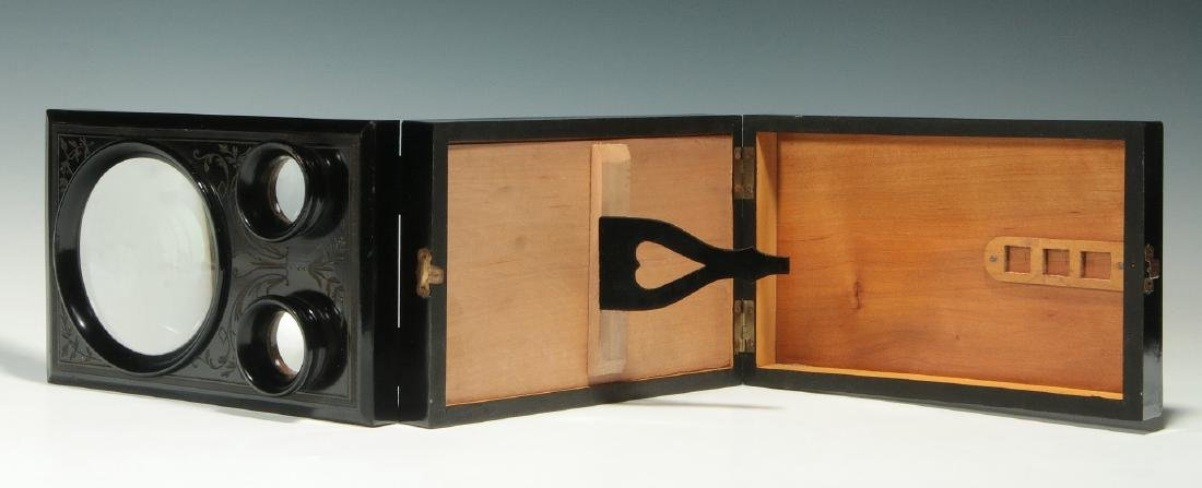 A 19THC. FRENCH FOLDING STEREO CARD PHOTO VIEWER - 6