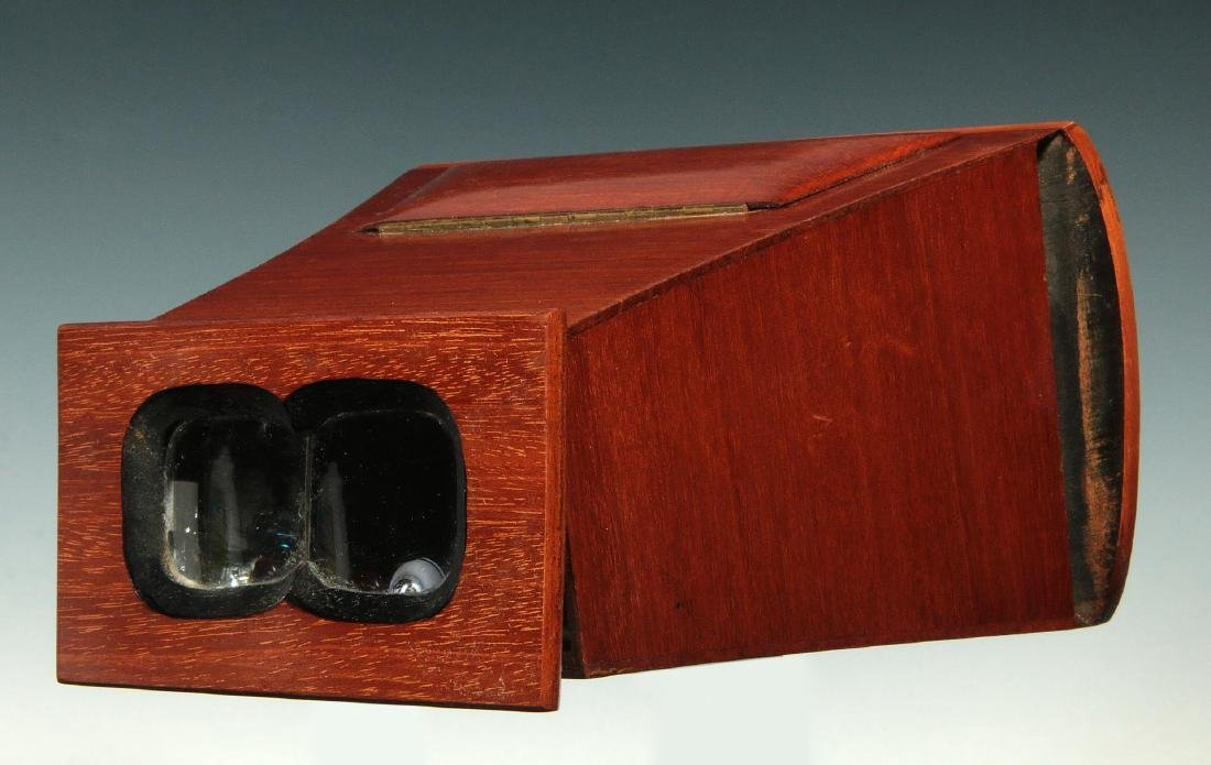 A LATE 19TH C. BREWSTER STYLE STEREOSCOPE VIEWER