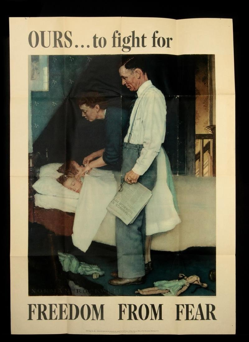 WWII WAR BOND POSTERS AFTER NORMAN ROCKWELL