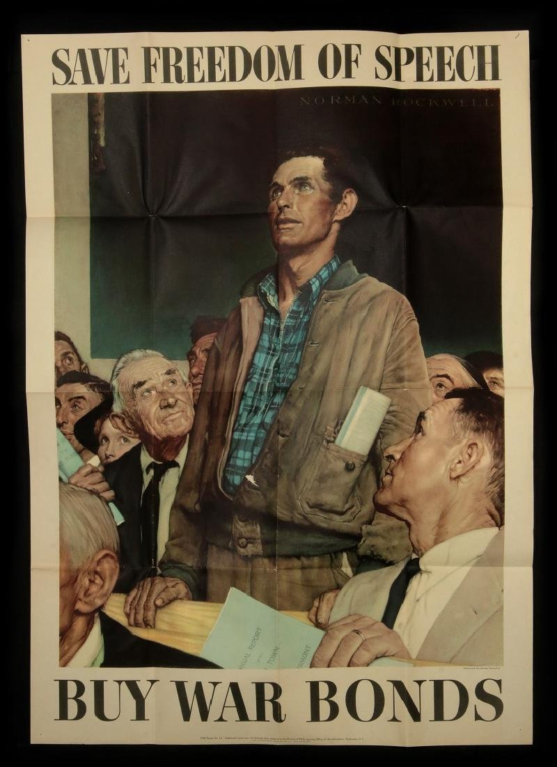 WWII WAR BOND POSTERS AFTER NORMAN ROCKWELL - 4