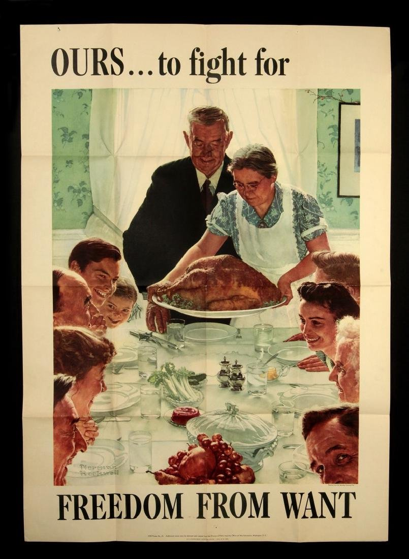 WWII WAR BOND POSTERS AFTER NORMAN ROCKWELL - 7