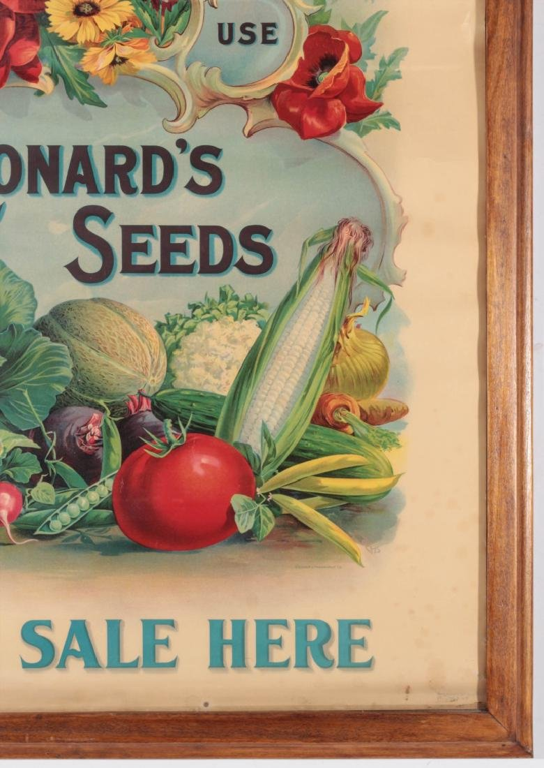 C. 1900 LEONARD'S SEEDS CHROMOLITHOGRAPH POSTER - 5