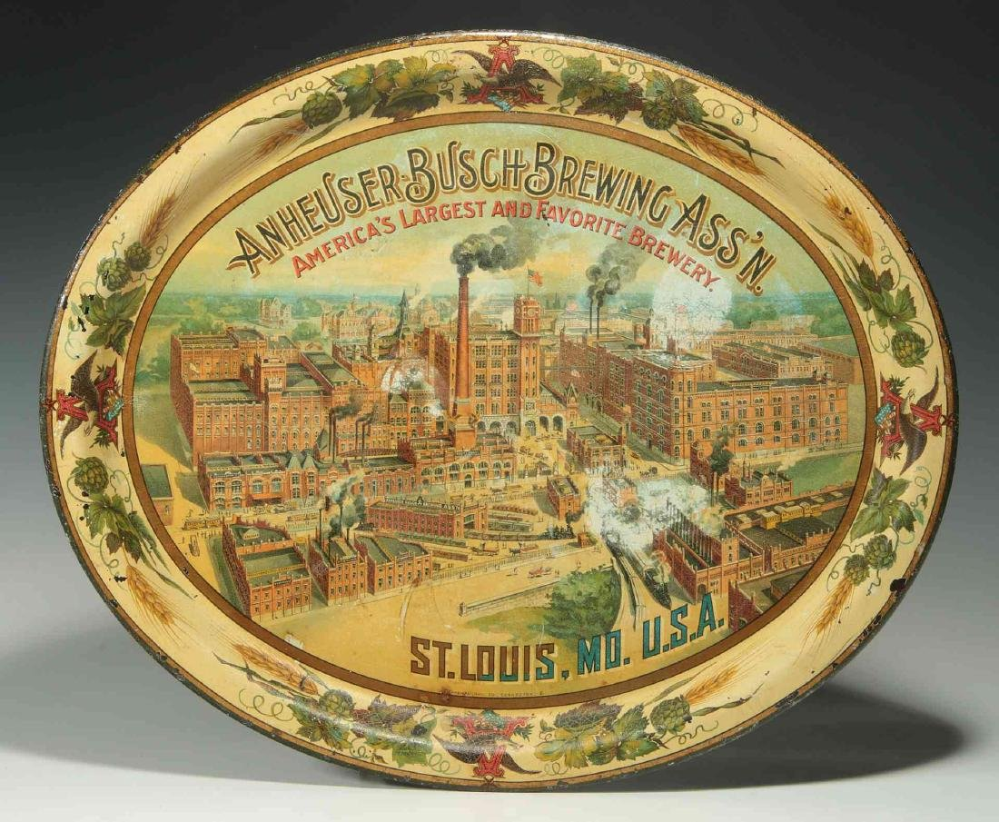PRE-PROHIBITION ANHEUSER BUSCH BREWING ASS'N TRAY