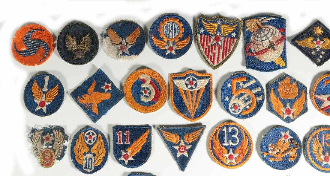 A COLLECTION OF 36 ARMY AIR FORCE AAF WWII INSIGN - 2