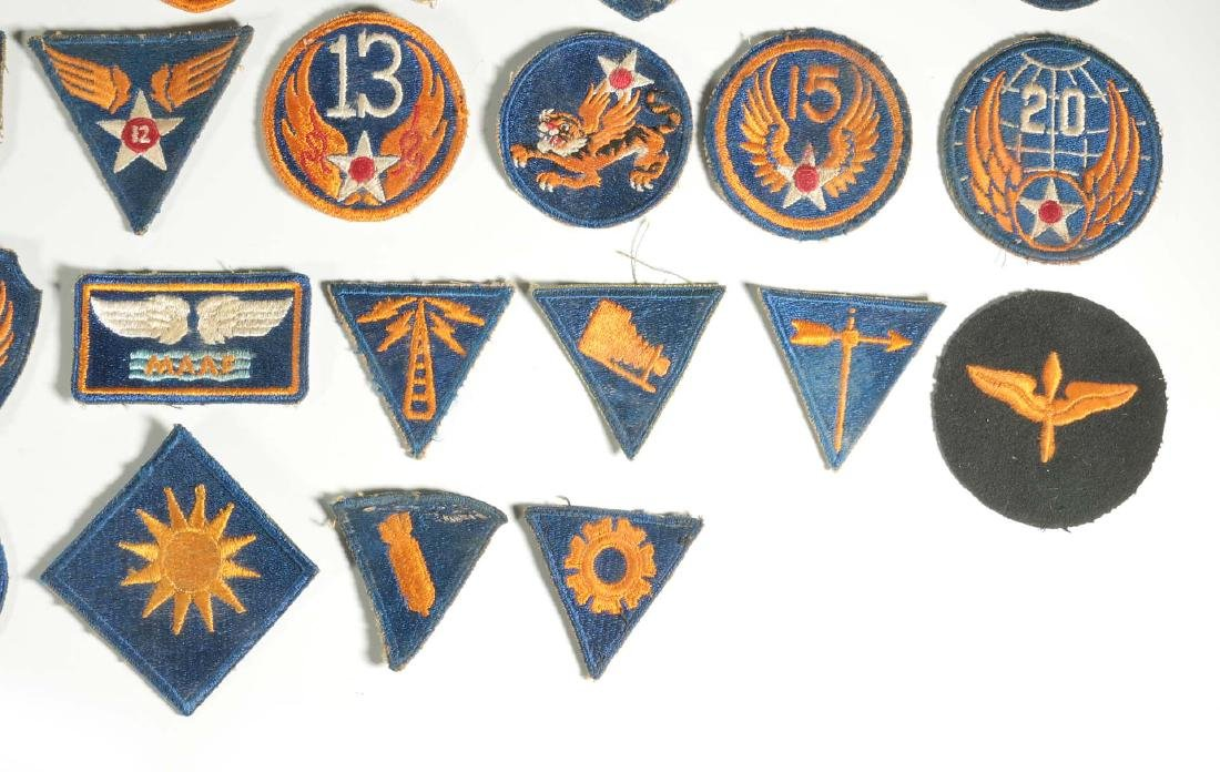 A COLLECTION OF 36 ARMY AIR FORCE AAF WWII INSIGN - 4