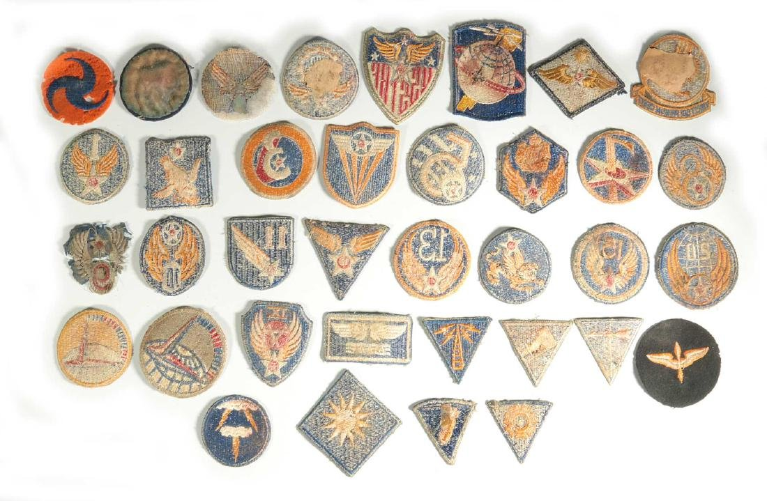 A COLLECTION OF 36 ARMY AIR FORCE AAF WWII INSIGN - 6