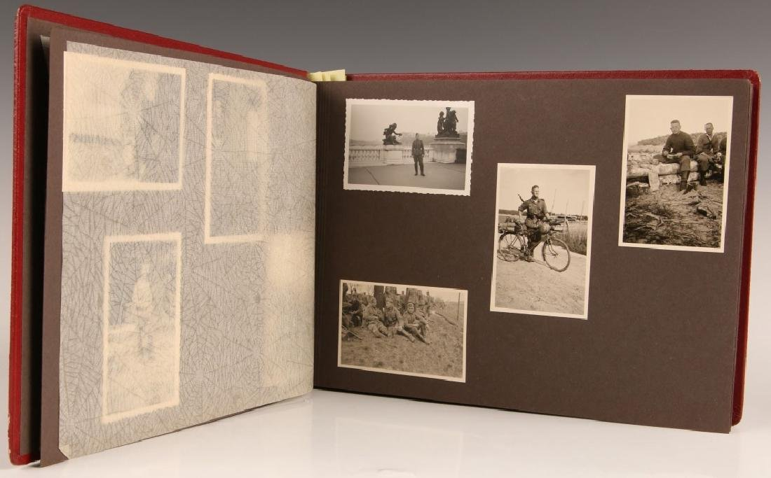 WWII WH PHOTOGRAPH ALBUM, OCCUPATION OF FRANCE
