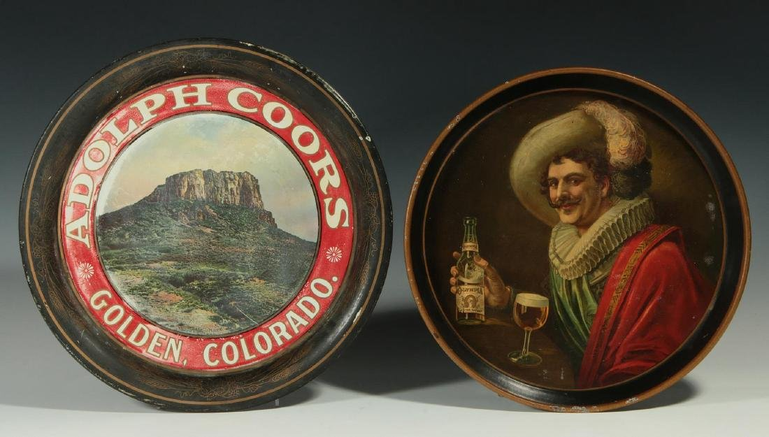 PRE-PROHIBITION COORS & OLYMPIA ADVERTISING TRAYS