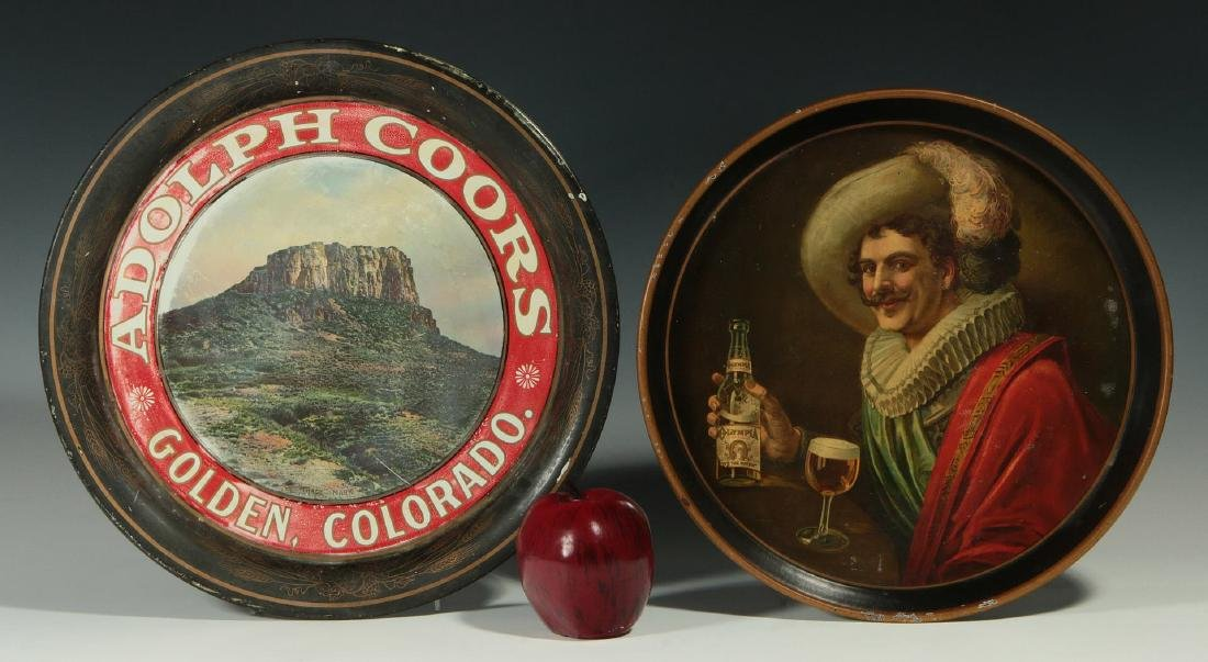 PRE-PROHIBITION COORS & OLYMPIA ADVERTISING TRAYS - 2