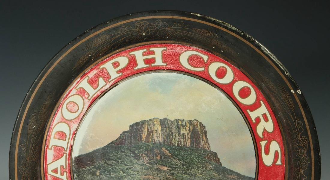 PRE-PROHIBITION COORS & OLYMPIA ADVERTISING TRAYS - 3