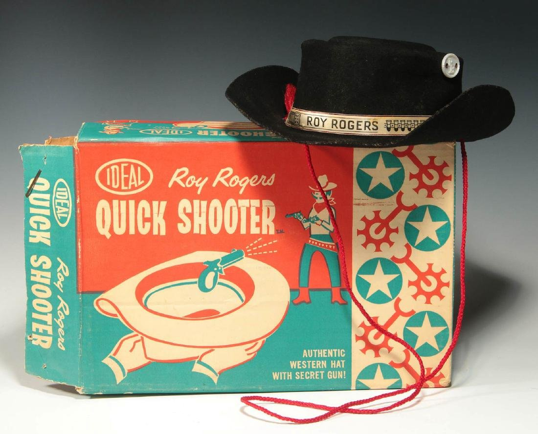 ROY ROGERS WESTERN HAT WITH SECRET GUN - IN BOX