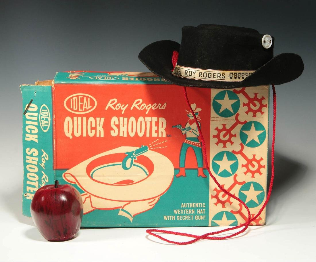 ROY ROGERS WESTERN HAT WITH SECRET GUN - IN BOX - 2