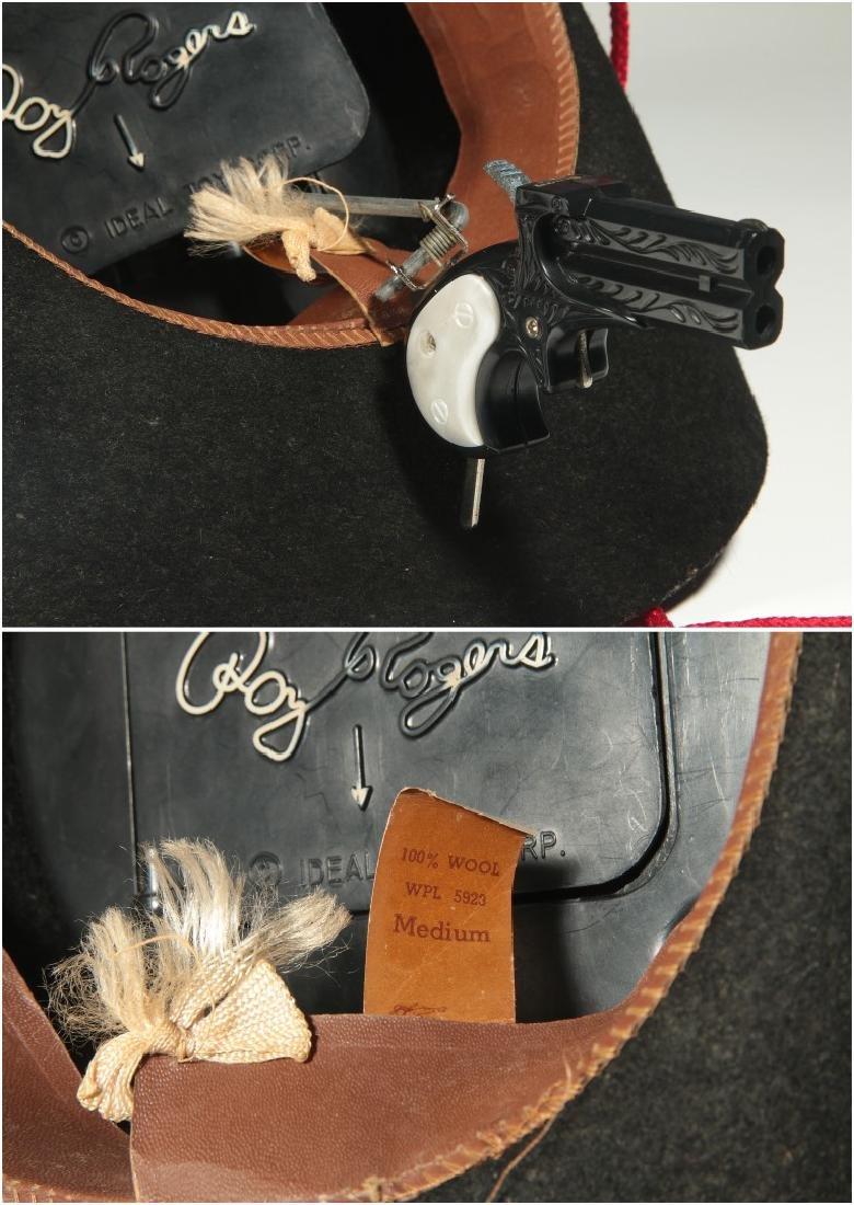 ROY ROGERS WESTERN HAT WITH SECRET GUN - IN BOX - 9