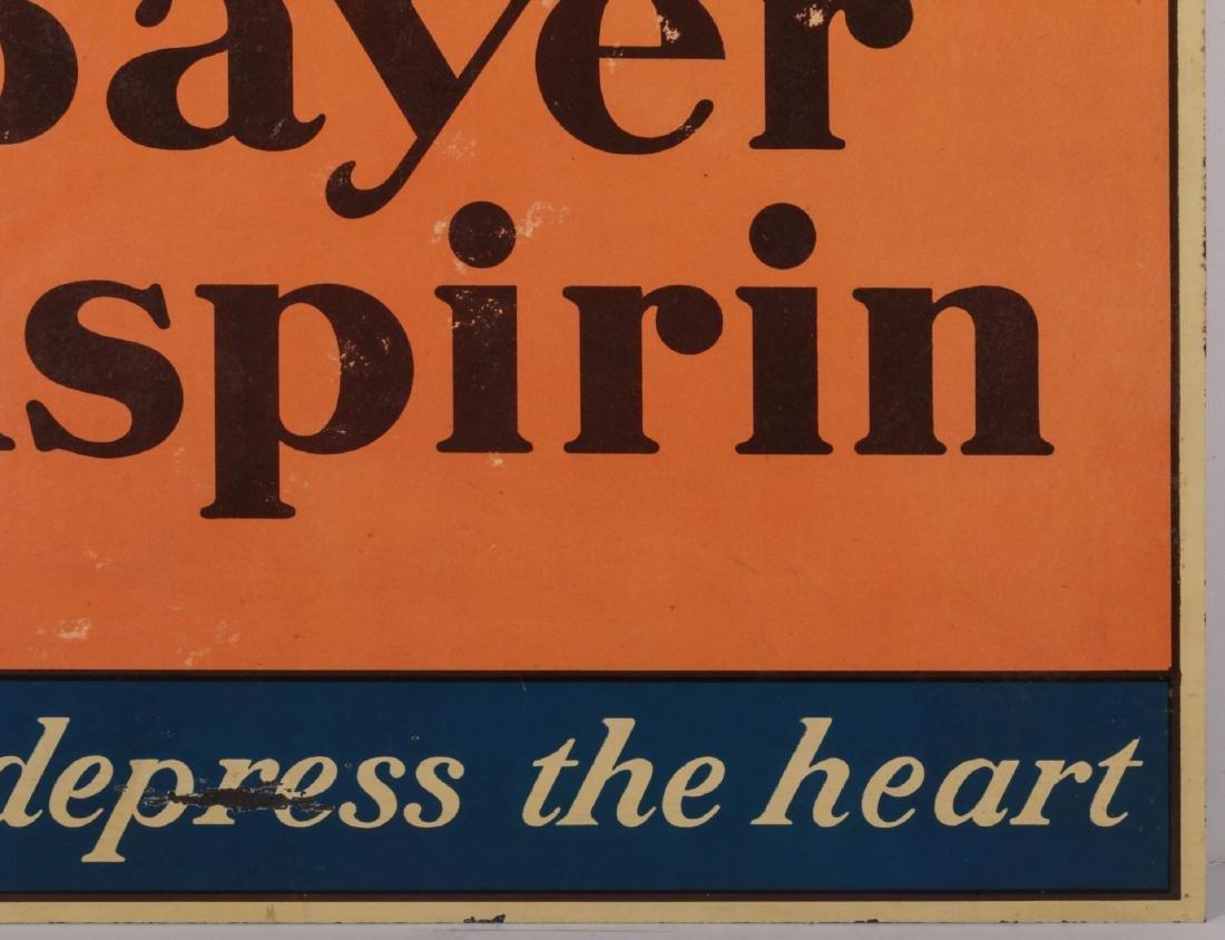 A CIRCA 1935 BAYER ASPIRING TIN ADVERTISING SIGN - 4