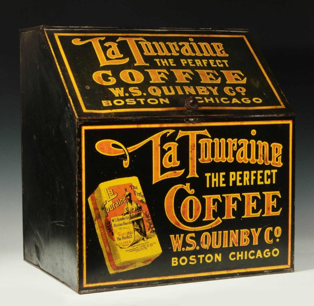 AN ADVERTISING BIN FOR LA TOURAINE COFFEE COMPANY