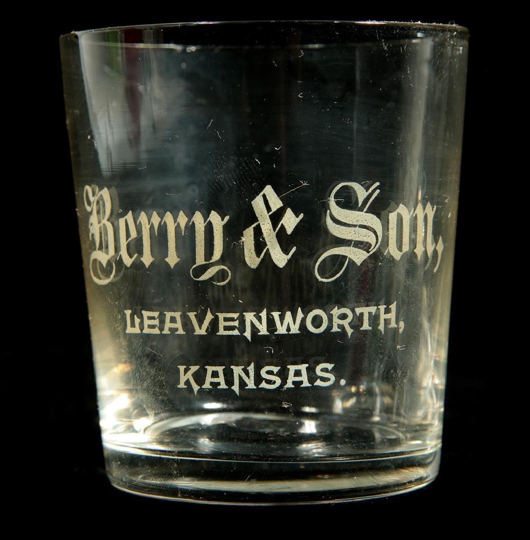 FOUR BERRY & SON LEAVENWORTH, KANSAS SHOT GLASSES - 3