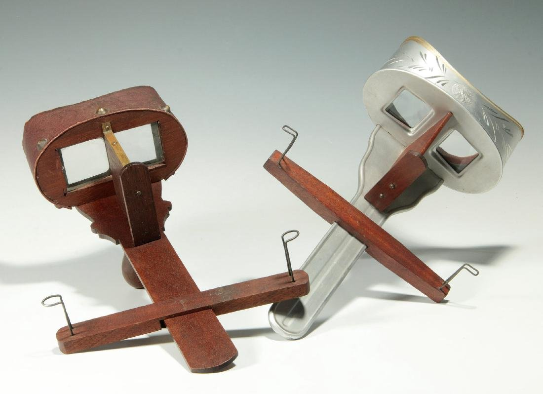 TWO CIRCA 1900 STEREO CARD VIEWERS
