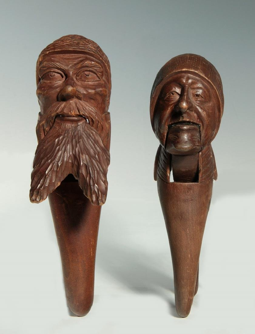 TWO C.1900 BLACK FOREST CARVED WOOD NUT CRACKERS