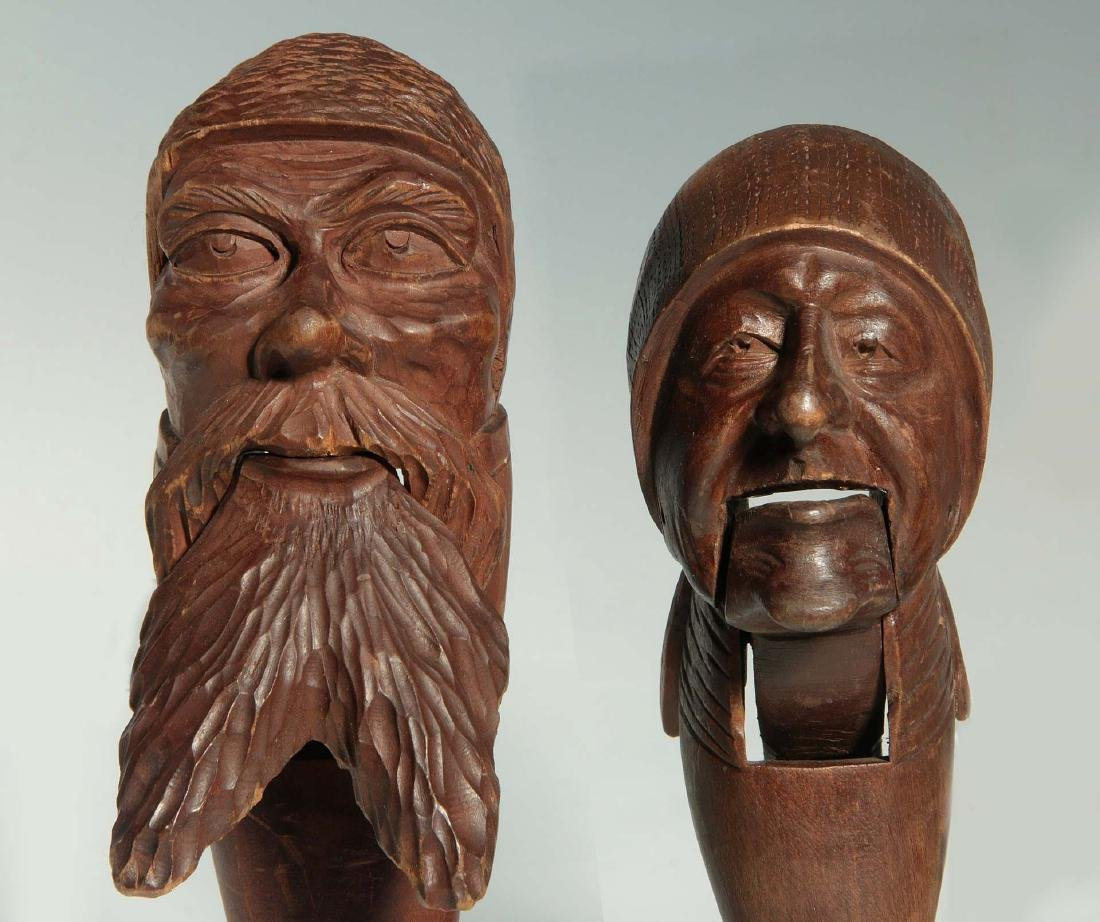 TWO C.1900 BLACK FOREST CARVED WOOD NUT CRACKERS - 3
