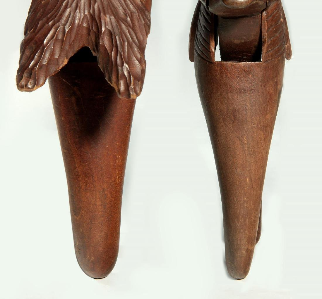 TWO C.1900 BLACK FOREST CARVED WOOD NUT CRACKERS - 4