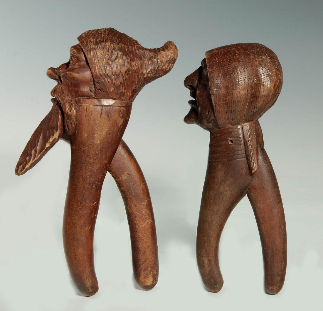 TWO C.1900 BLACK FOREST CARVED WOOD NUT CRACKERS - 5