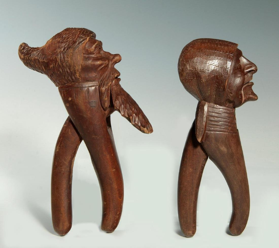 TWO C.1900 BLACK FOREST CARVED WOOD NUT CRACKERS - 6