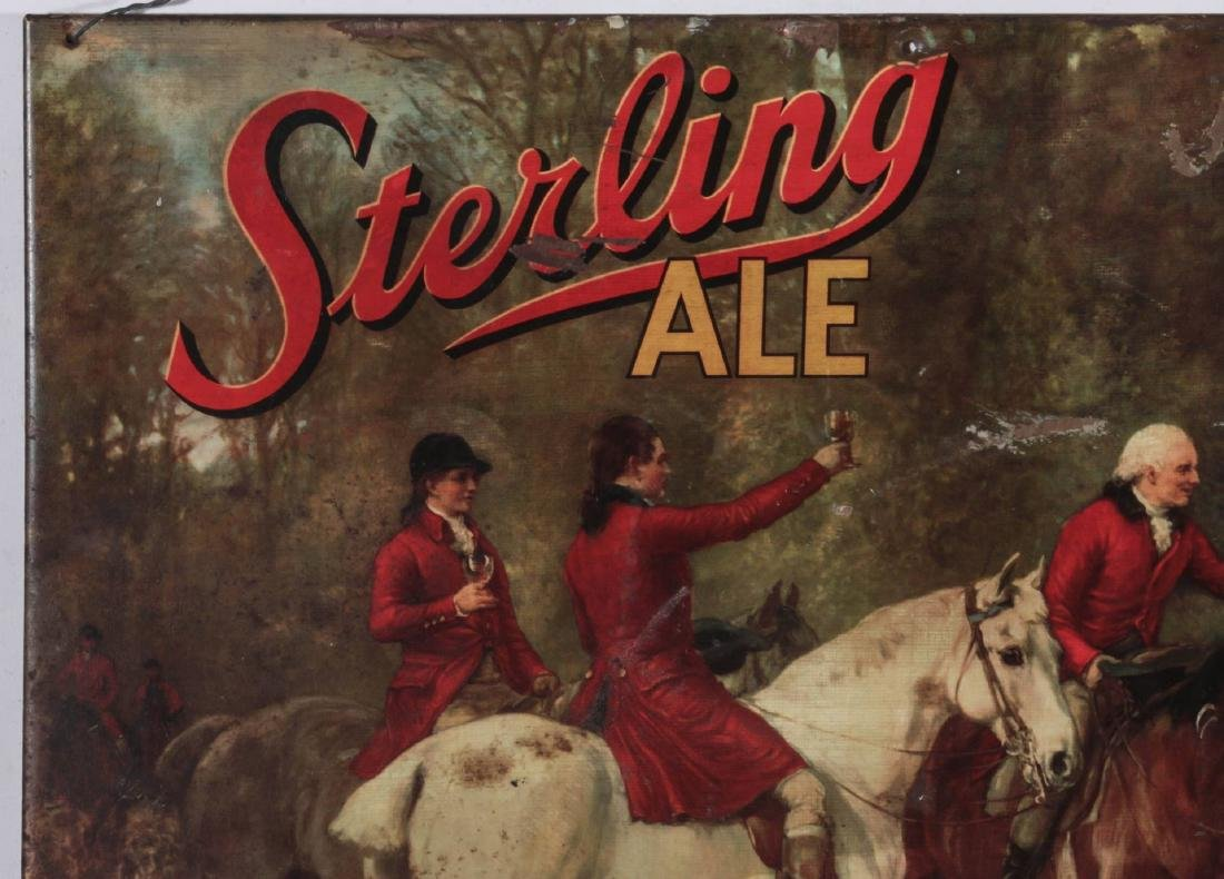 A VINTAGE STERLING ALE TIN LITHOGRAPH SIGN - 3