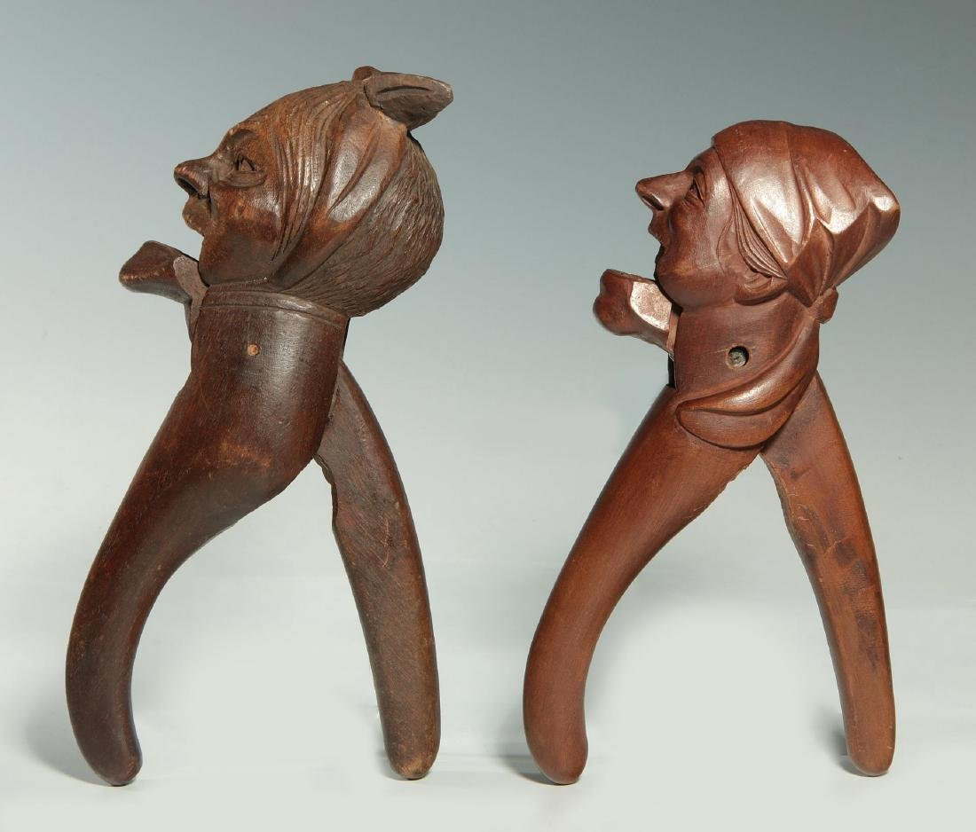 TWO C.1900 BLACK FOREST CARVED WOOD NUT CRACKERS - 7