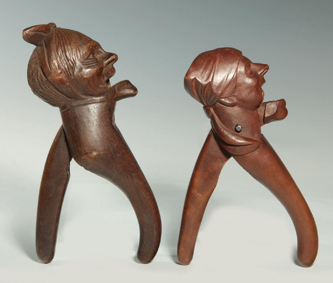 TWO C.1900 BLACK FOREST CARVED WOOD NUT CRACKERS - 8