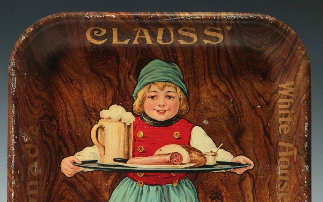 KLAUS GINGER ALE, LEMONADE , BIRCH BEER ADVTG TRAY - 3