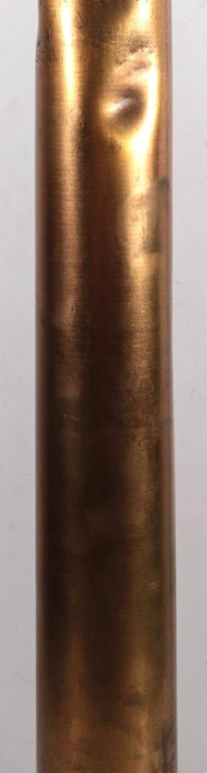 AN ANTIQUE BRASS 30-INCH FIRE NOZZLE - 3