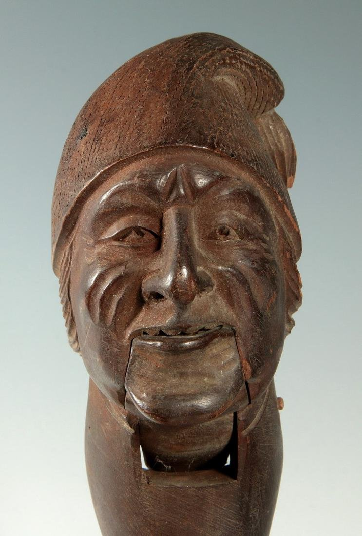 A LATE 19 / EARLY 20 C. CARVED FIGURAL NUT CRACKER - 6