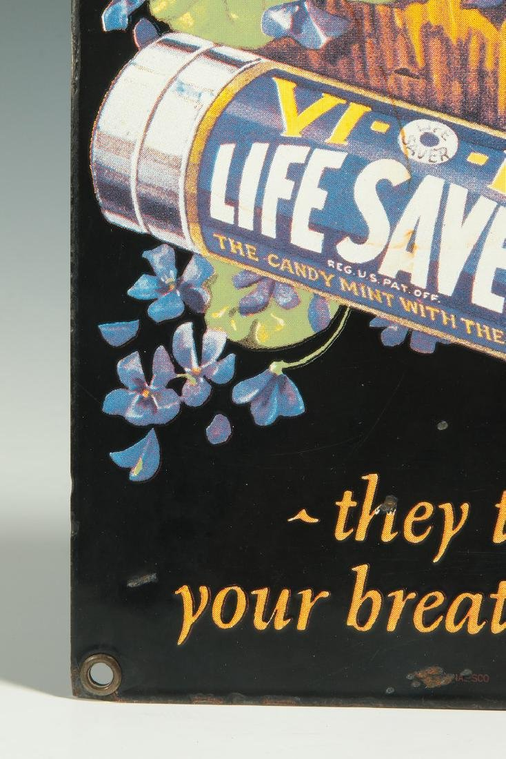 A VINTAGE PORCELAIN SIGN FOR LIFE SAVERS CANDY - 6