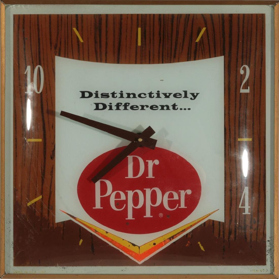 A VINTAGE LIGHTED DR. PEPPER ADVERTISING CLOCK - 4