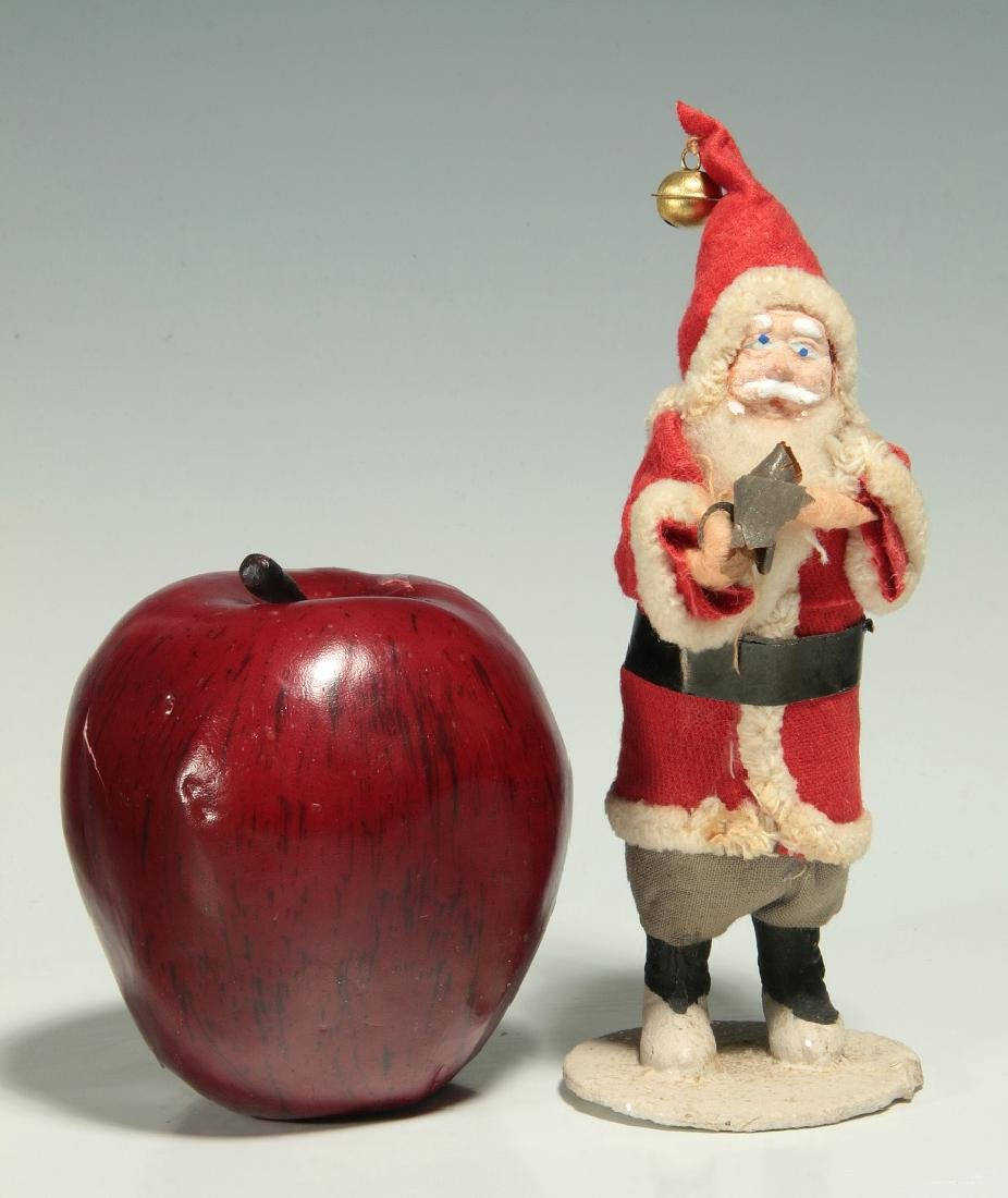 A VINTAGE COMPOSITION FACE SANTA CLAUS FIGURE - 2