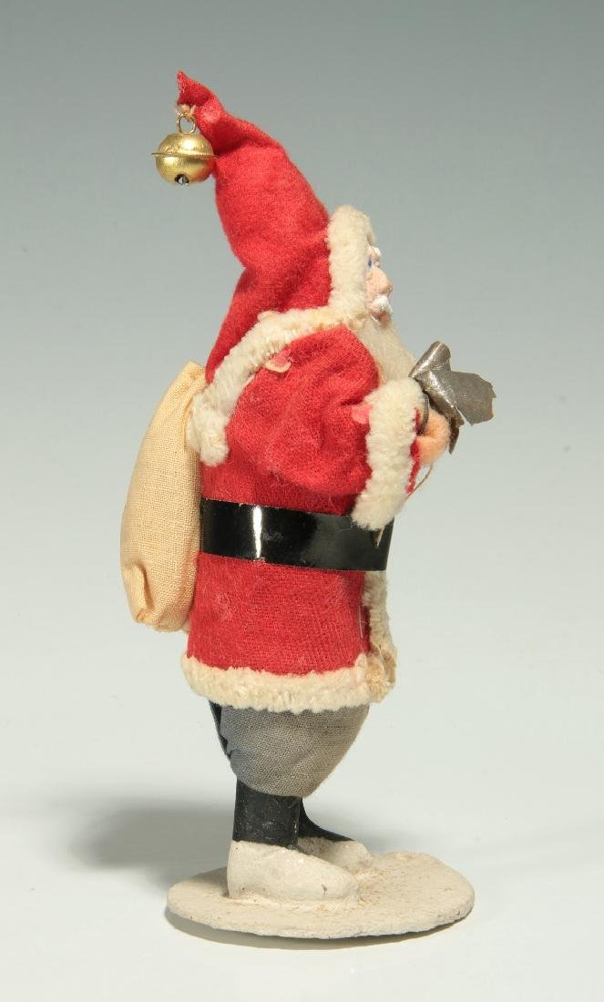 A VINTAGE COMPOSITION FACE SANTA CLAUS FIGURE - 5