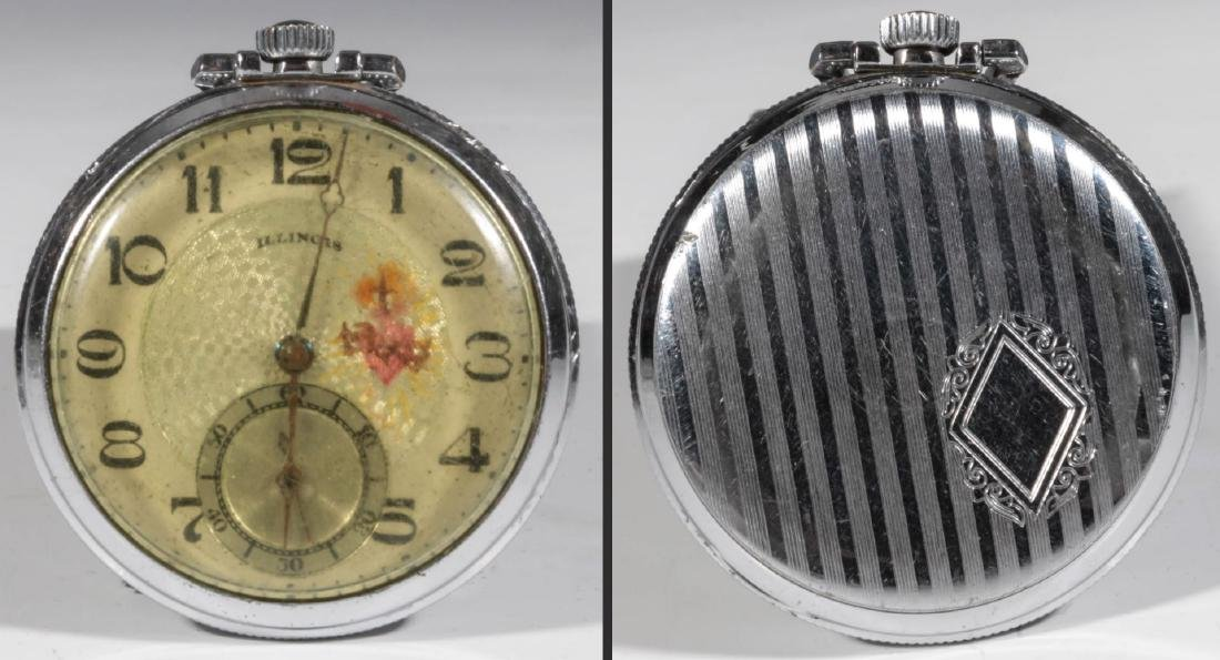 A COLLECTION LOW END POCKET WATCHES IN DISREPAIR