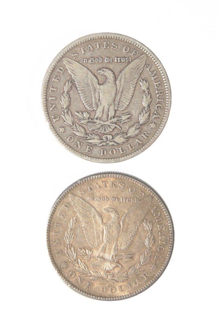 TWO MORGAN SILVER DOLLARS - 2
