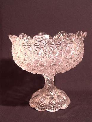 PATTERN GLASS COMPOTE