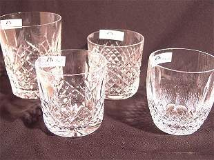 FOUR DIFFERENT WATERFORD TUMBLERS