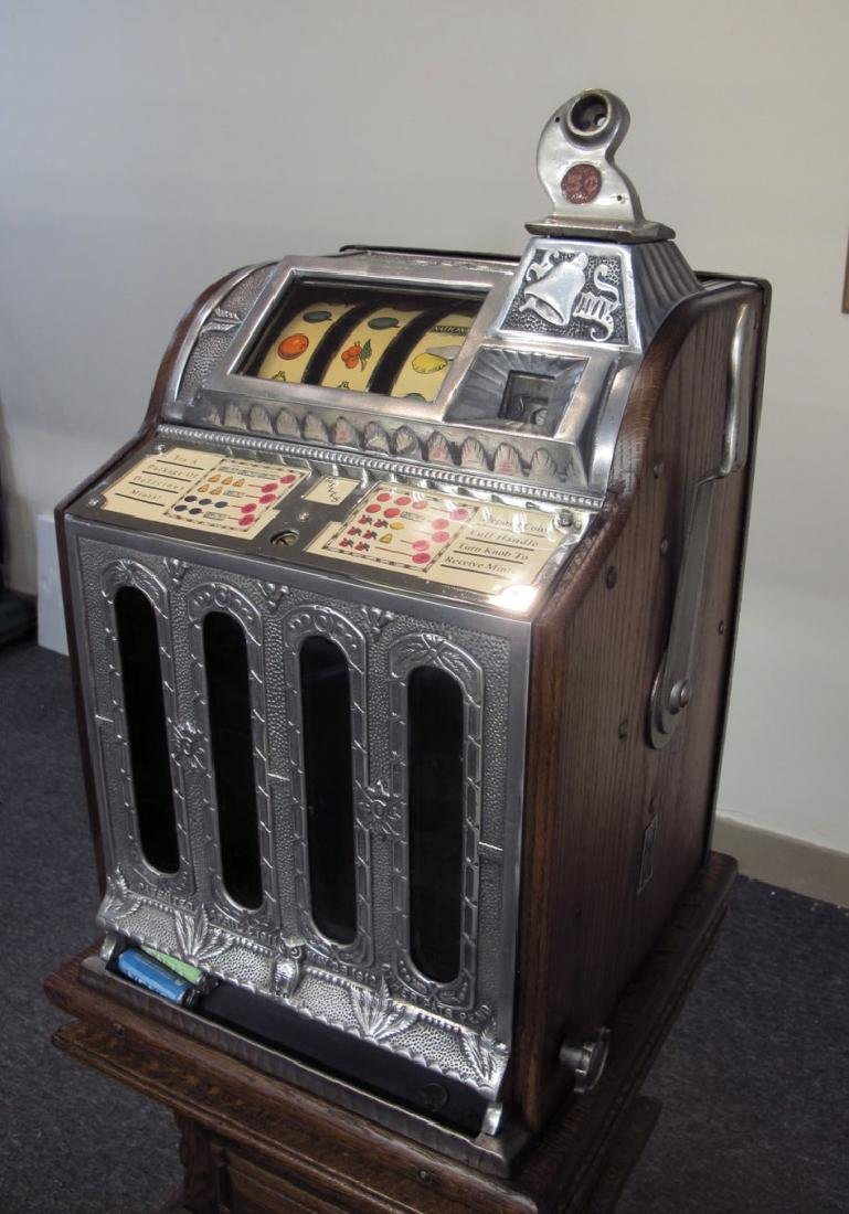 MILLS JACKPOT MINT FRONT O.K. VENDOR SLOT MACHINE