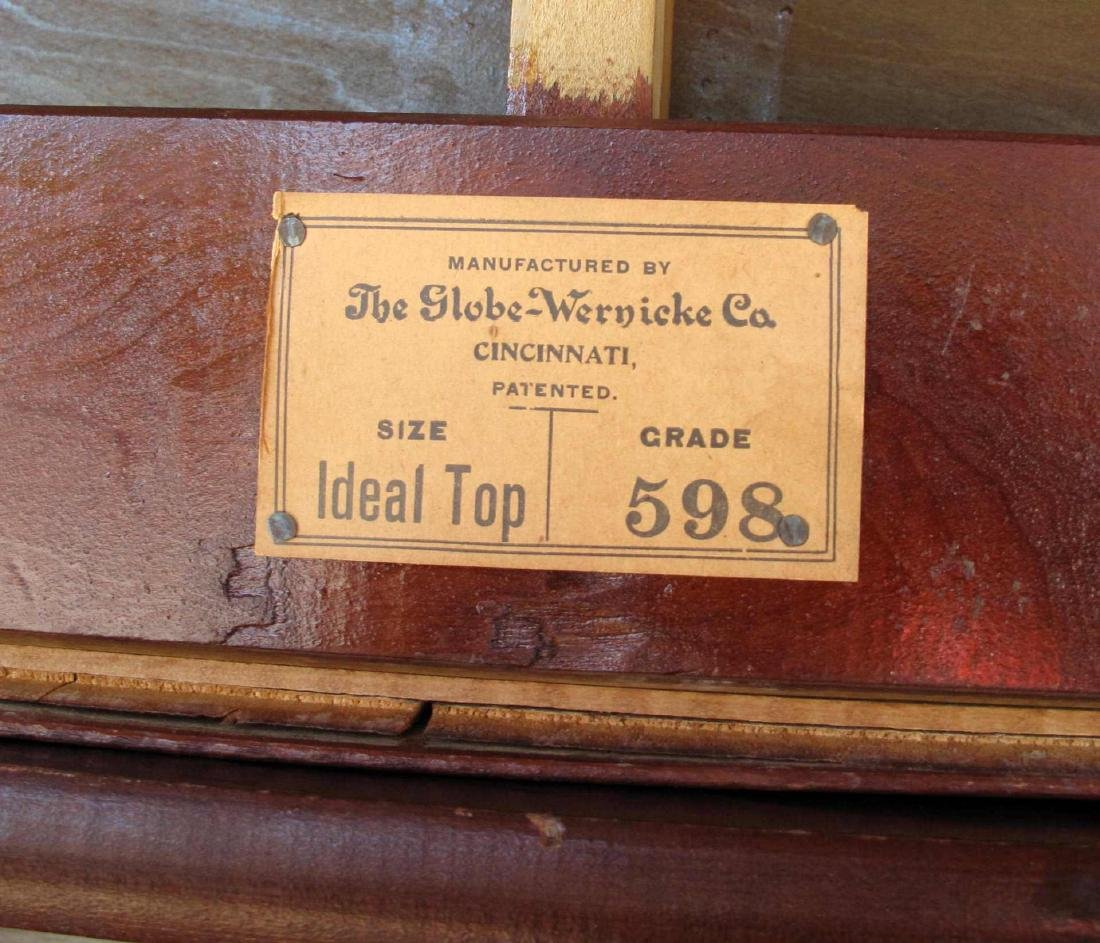 AN UNUSUAL GLOBE-WERNICKE STACKING BOOKCASE - 10